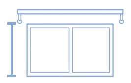 コンテンツ用 掛け替え 採寸方法 腰高窓