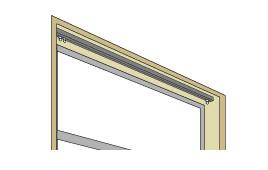 カーテンレール 天井付けイメージ