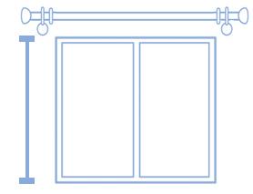 コンテンツ用 掛け替え 採寸方法 装飾性レール 掃き出し窓