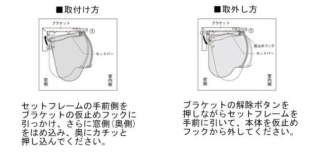 【ロールスクリーン】取付方法-カバータイプ