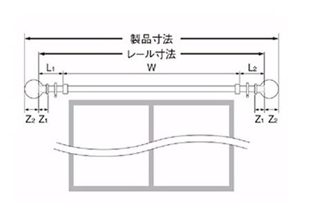 【カーテンレール タチカワ】 ビバーチェ レールカット寸法、算出方法