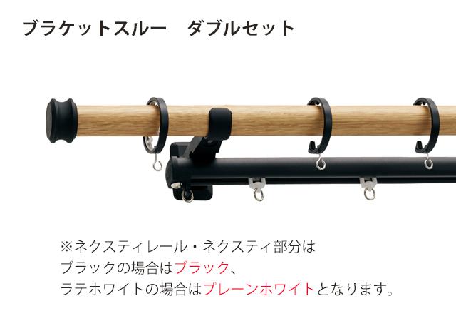 【カーテンレール TOSO】ヴィンクス22 ブラケットスルーダブル キャップA/B