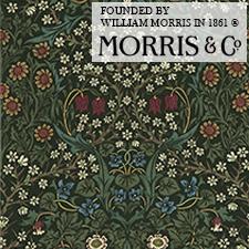 【カーテン生地】ウィリアムモリスwilliammorrisギリスの花、ブラックトーンやスミレがデザイン