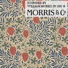 【カーテン生地】ウィリアムモリスwilliammorris ヴァイン 揺れているような葡萄の房と繊細な蔓
