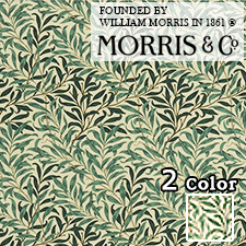 【カーテン生地】ウィリアムモリスwilliammorrisモリスのお気に入りのひとつであった自然主義的デザインで、柳の木がモチーフのウイローボウ