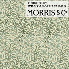 【カーテン生地】ウィリアムモリスwilliammorris柳の木がデザインされた自然美しいウイローボウレース
