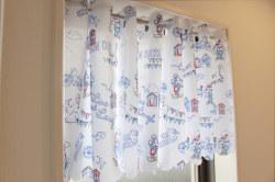 ディズニー ミッキー ミニー 撥水加工 風呂 キッチン トイレ シャワー カフェカーテン1