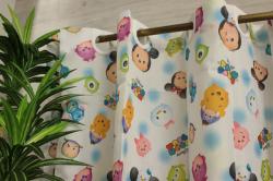 ディズニー ツムツム 撥水加工 風呂 キッチン トイレ シャワー カフェカーテン