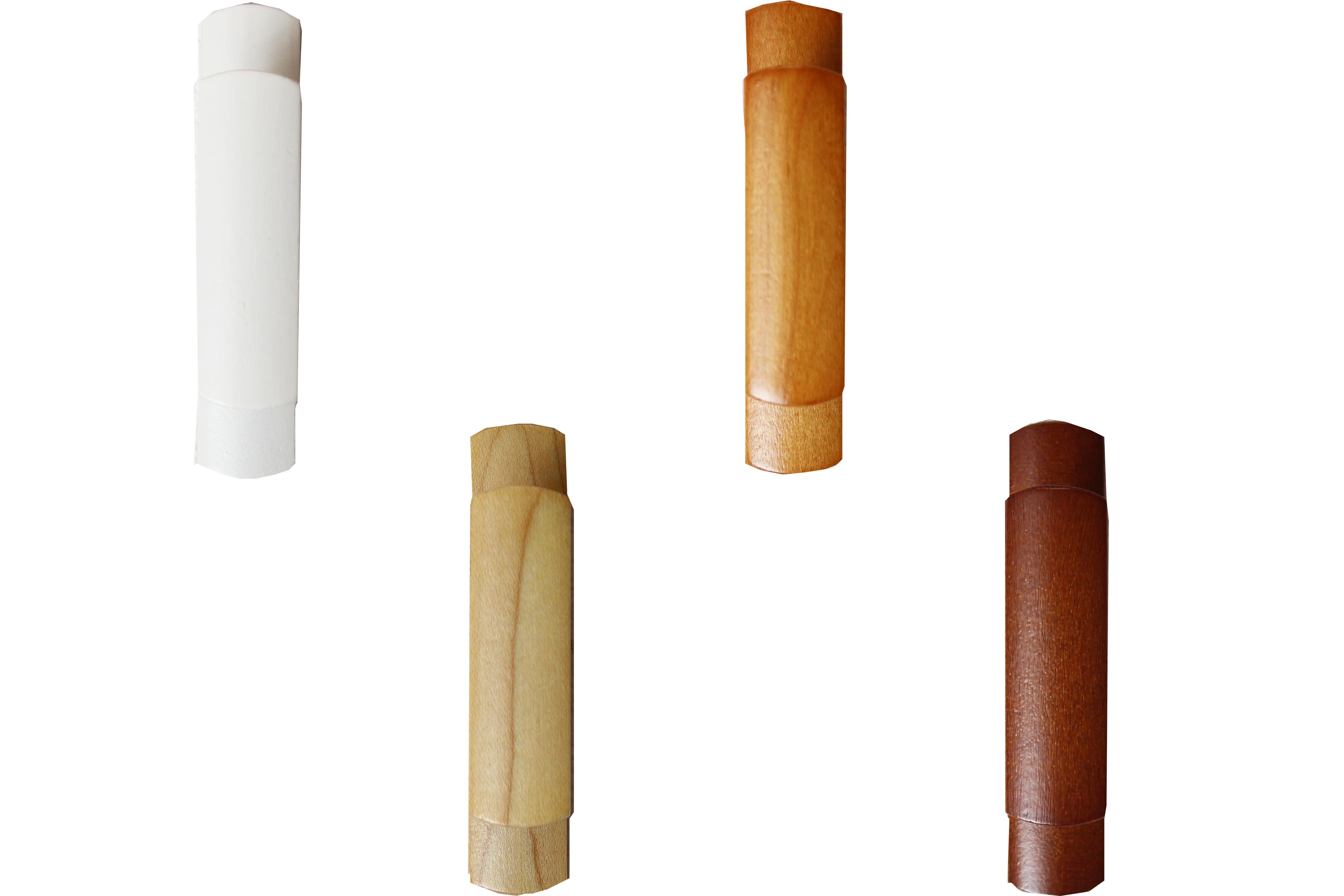 【カーテン房掛け(カーテン留)】木製房掛け(1個)(シール式)(全4色)(単品10個までメール便対応)