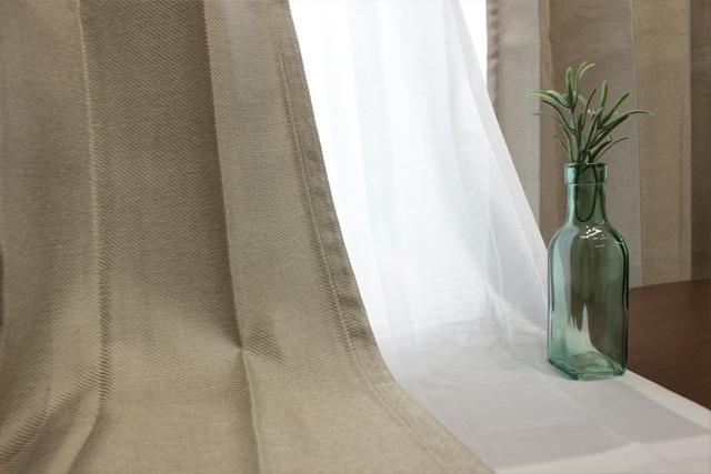 【既製品カーテン:4枚入り】スクローンII(全2色) 3サイズ同一価格