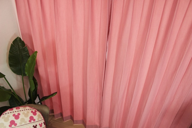 【オーダーカーテン】サラ(全2色) 綿混 ナチュラル 無地 ピンク