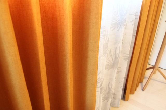 【オーダーカーテン】ラフ(全3色) 防炎 非遮光 無地 ざっくりとした風合いのシンプルなカーテン