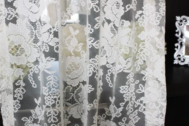 刺繍レースカーテン LO483